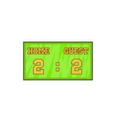 Baseball score board icon cartoon style vector image