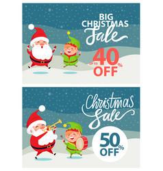 big christmas sale banner vector image