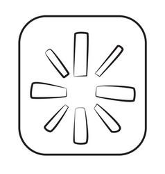 Cartoon image of restart icon vector