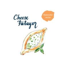 Cheese fatayer vector