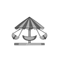 Childrens carousel icon black monochrome style vector image vector image
