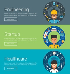 Engineering Startup Healthcare Flat Design vector image