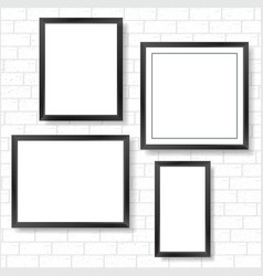 Frames on bricks wall vector