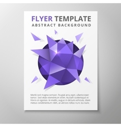Geometric triangular abstract flyer vector image