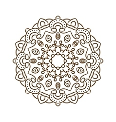 Hand drawn henna tattoo mandala lace vector
