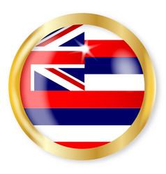 Hawaii flag button vector
