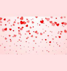 hearts confetti heart background for design vector image vector image