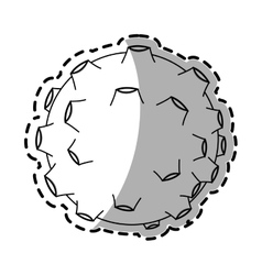 Isolated asteroid design vector image