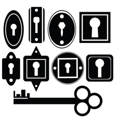key and keyholes vector image
