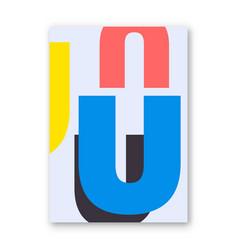 letter u poster vector image vector image
