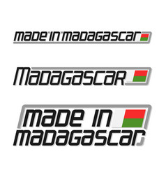 Made in madagascar vector