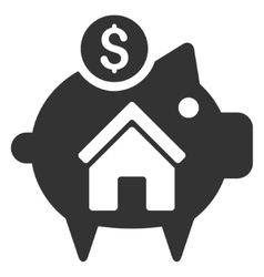 Realty Piggy Bank Flat Icon vector image vector image