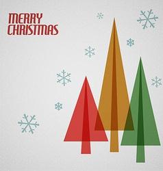 Retro Christmas card with christmas trees vector image