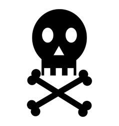 Skull icon simple style vector image vector image
