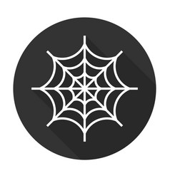 Spider web icon flat vector