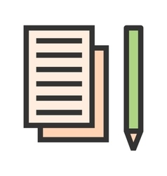 Taking notes vector