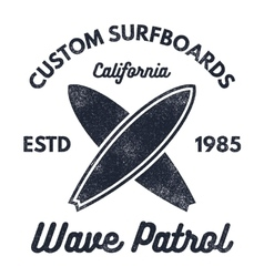 Vintage surfing tee design retro t-shirt graphics vector