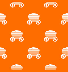 vintage wooden cart pattern seamless vector image vector image
