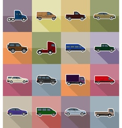 Transport flat icons 18 vector