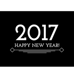 Creative happy new year 2017 background vector