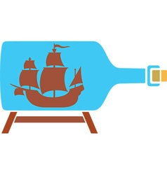 Ship in a bottle icon vector