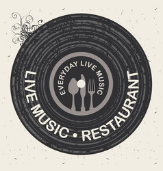 banner for restaurant with live music vector image