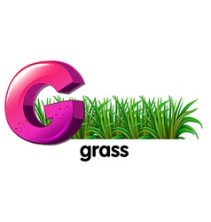A letter G for grass vector image