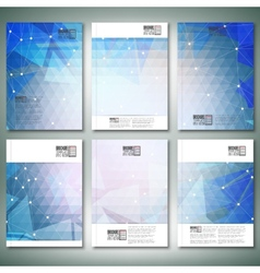 Abstract blue background brochure flyer or vector