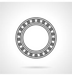 Line icon for roller bearing vector