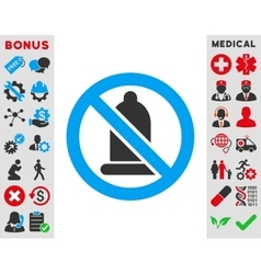 Forbidden condom icon vector