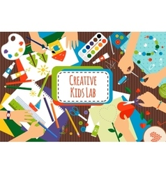 Creative kids lab vector