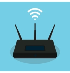 Wifi singla router isolated object vector