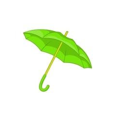 Green umbrella icon cartoon style vector