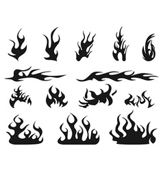 abstract fire patterns icons vector image vector image