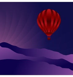 Air balloon in the night sky vector image