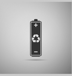 battery with recycling symbol icon isolated vector image