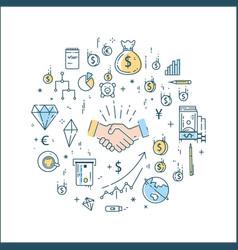 bussines finance money line concept vector image