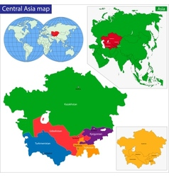 Central asia map vector