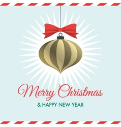 Christmas card with christmas ball vector