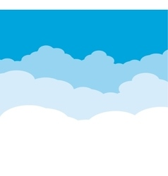 Cloudy background on blue sky vector