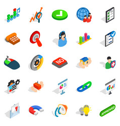 Excellent worker icons set isometric style vector