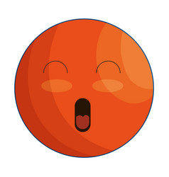 face emoticon isolated icon vector image