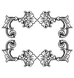 Floral label frame 3 vector image vector image