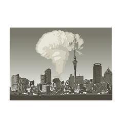 Grunge city atomic vector
