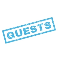 Guests Rubber Stamp vector image vector image