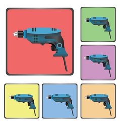 Icons of drill vector