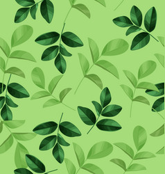 Leaf pattern background vector