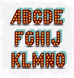 lightbulb alphabet font vector image