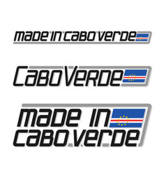 Made in cabo verde vector