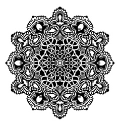 Mandala black and white vector